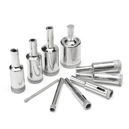 Wholesale Granite Cutters - 10Pcs 3-25mm Diamond Drill Bits Set Glass Marble Granite Hole Saw Cutters