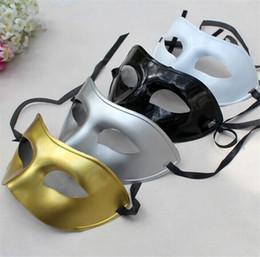 Wholesale Plastic Black Venetian Mask - Men's Masquerade Mask Fancy Dress Venetian Masks Masquerade Masks Plastic Half Face Mask Optional Multi-color Party Masks I060