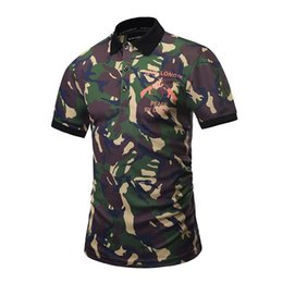 Wholesale Universal Shirts - Brand Design Universal Camouflage Polo Shirt for Men 3D Printed Shirts Plus Size 3XL Male Tops Tee Sport Outdoor Clothes BL-021