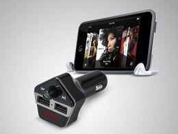 dongle bluetooth smart tv Скидка 2017 новый 3 in1 ST06 Bluetooth автомобильный комплект Аудио MP3 музыкальный плеер громкой связи набор ЖК-дисплей поддержка TF карта FM передатчик USB автомобильное зарядное устройство