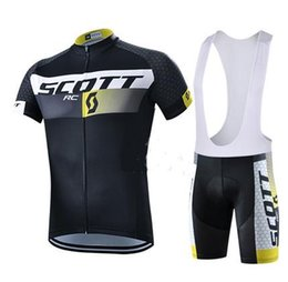 Wholesale Scott Cycling Sleeves - Men cycling jersey 2016 team scott cycling clothing sets maillot ciclismo Short Sleeves KTM Ropa ciclismo MTB Cycling Jersey+BIB Shorts
