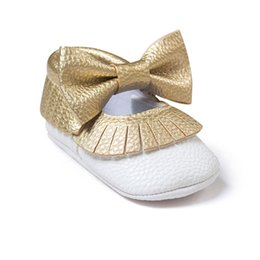 Wholesale Female First - Wholesale- The New Tassel Bowknot Female Baby Shoes For 0-2 Years Old Handmade High Quality For Baby Girls First Walkers Fashion Shoes