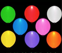 Wholesale Sky Lanterns Led Lights - 12 inch led lighted up balloon colorful lamp balloon birthday party decoration led sky lantern inflatable Party Decoration air balloon