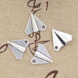 Wholesale Silver Paper Airplane - Wholesale-99Cents 6pcs Charms paper airplane plane 18*17mm Antique Making pendant fit,Vintage Tibetan Silver,DIY bracelet necklace