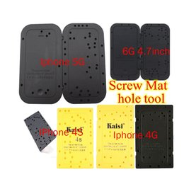 Wholesale Iphone 4s Screw Mat - New Screw Hole Location Plate Memory Board Screw Mat tool for iPhone 4 4g 4s 5 5s 5c 6 6G 4.7 inch