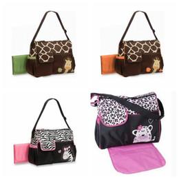 Wholesale Wholesale Zebra Bags - 4 Styless Animal Diaper Bags Cute Zebra Strength Giraffe Mummy Bags Babyboom High Capacity Multifunction Bags Baby Nappy Bag CCA8028 5pcs