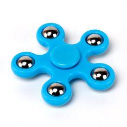 Fiadores de fidget azul on-line-Blue Five-Pointed Star Spinner Fidget Toy Fidget Spinner Durable Gyro Gyroscope Focus Toys Finger Spinner