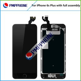 Wholesale Iphone Front Touch Screen - LCD Display with Frame + Front Camera + Home Button Full Assembly Touch Screen Digitizer Replacement for iPhone 6s Plus AAA quality