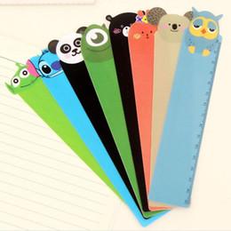 Wholesale Rulers 15cm - Wholesale-5PC 15cm Kawaii Cartoon Animal Plastic Bendable Bookmark Ruler Panda Owl Straight Tool Students Stationery Office School Supplie