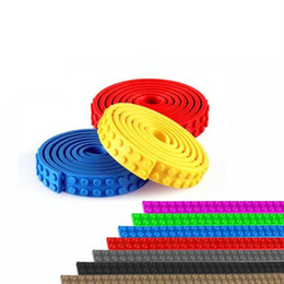 Wholesale Wholesale Sticky Dots - Nimuno Loops Building Blocks DIY Baseplate 2x32 25cm Dots Small Plastic Tape Blocks Base Plate no Sticky Backing