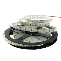 Wholesale Round Connectors - Cheap LED Strip Lights 5050 SMD Warm white cool white blue red green Waterproof Flexible 300 LEDs with connector