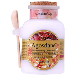 Wholesale Body Whitening Scrub - Wholesale-Rose essential oil body scrub body peeling remove goose bumps skin Whitening Moisturizing exfoliating dead skin to skin S536