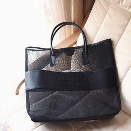 Wholesale Transparent Trunk - Wholesale-Freee shipping designer brand large transparent cosmetic bag fashion shoulder bag beach bag women necessaire handbag items