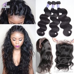 Wholesale Brazilian 12 Inch Lace Frontal - 360 Lace Frontal with Bundles Brazilian Human Hair 3 Bundles with Frontal Closure Brazilian Body Wave Virgin Hair with 360 Lace Frontal