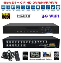 Wholesale 4ch Cctv Surveillance Dvr Recorder - 4ch 8ch 16 Channel AHD DVR Network 1080P 960H Motion Detection Audio Alarm NVR DVR CCTV Surveillance Security System Digital Video Recorder