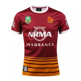 Wholesale horse gifts free shipping - AIG Super Brisbane Wild horse Rugby shirt teams Sport free shipping Wholesale Cheap Shirt promotion present birthday gift Christmas