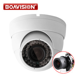 Wholesale varifocal ir camera - 2MP 1080P POE Dome IP Camera IR 30M Waterproof CCTV Camera With POE PC&Mobile View Onvif Auto Iris 2.8-12mm VariFocal Lens P2P