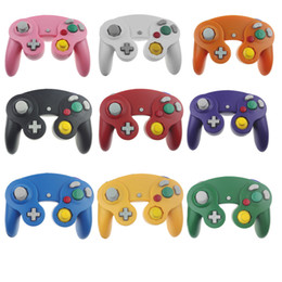 Wholesale Gamecube Consoles - Multicolor Classic Retro Wired Gamepad joystick for Nintendo Gamecube NGC Game Controller Console Analog gaming joypad For Wii