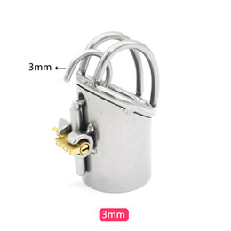 Wholesale Cock Chastity Tubes - 2018 The Tube Jacket 02 Only For PA800 Puncture Bondage Male Stainless Steel Cock Penis Cage W Dormant Lock Chastity Bdsm Sex Toy A215