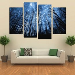 Wholesale Wholesale Frameless Paintings - art nouveau 2016 New Style Frameless painting Dream Valley canvas wall art 4 panel for bedroom living room home decor