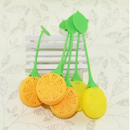Wholesale Teapot Shape Infuser - Silicone Filter Teabag Tea Strainer Infuser Lovely Teapot Tea Cup Filter Creative Bag Lemon Shape Style for Kitchen Tools Home Application