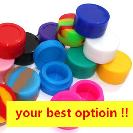 Wholesale E Mini Case - Silicone Non stick Wax Containers dab jar box Colorful 3mL 5mL 7mL mini Dab Waxy Jars Concentrate Case FDA approved e-cig box