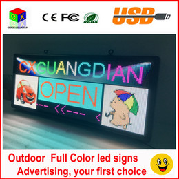 Wholesale Video Sign - Outdoor P6 Full Color LED Sign 40''x18'' Support Scrolling Text LED Advertising Screen   Programmable Image Video LED Display