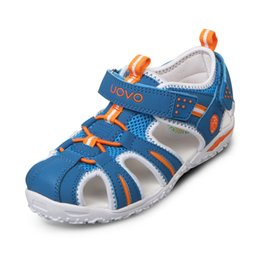 Wholesale 12 Years Old Boys - UOVO brand 2017 summer beach kids shoes closed toe sandals for boys and girls designer toddler sandals for 4 - 15 years old kids