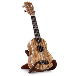 Wholesale Zebrawood Soprano Ukulele - Wholesale-21 Inch Zebrawood Soprano Ukulele 15 Frets Uke Ukuleles Sapele Musical Instrument Brown Hawaiian Guitar 4 Strings Instrument NEW