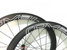 Wholesale Road Bike Tubular - 700C Carbon Road Bike Wheelset 23mm wideth 50mm Clincher Carbon Wheels R36 Hub Red Nipples Carbon Bicycle Wheel