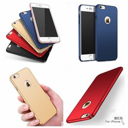 Wholesale Iphone Clear Back Housing - 360 Full Protection Housing Hard Plastic PC Matte Case For Iphone 7 6 6S Plus Galaxy S7 Edge S6 S6Edge Ultra thin Back Cover Skin Colorful