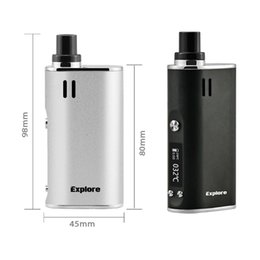 Wholesale Vaporizer Screens - Original Yocan Explore Kit Dry Herb Wax Vaporizer Kit 2 in 1 Vape Kit 2600mAh Built-in Battery With LCD Screen Huge Vapor