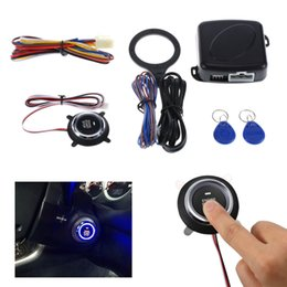 Entrada do carro sem chave on-line-Auto Car Motor Push Start Button RFID Bloqueio de Segurança Interruptor de Ignição Keyless Entry Universal Fit