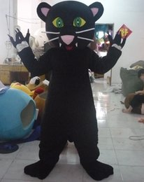 Wholesale Black Panther Mascot - SX0724 100% positive feedback free shipping forest wild animal suit black panther mascot costume for adult to wear