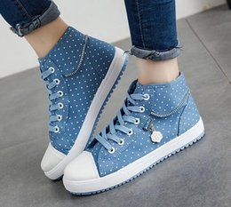 Wholesale Low High Heels Shoes - Top Quality Women Men High Top Canvas Shoes Low Heels Fashion Canvas Shoes Casual Flats Shoes