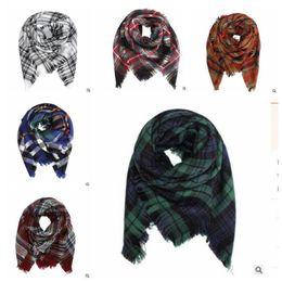 Wholesale Muffler Accessories - Kids Blanket Scarves Baby Scarf Plaid Tartan Scarf Striped Tassels Wrap Fashion Warm Neckerchief Winter Shawl Ring Muffler Accessories J416
