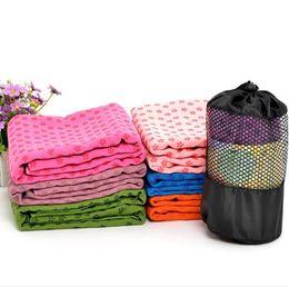 Asciugamano in microfibra Yoga Mat Asciugamano Asciugamano antiscivolo con borsa a rete da trasporto Asciugamano da palestra in microfibra altamente assorbente 72x24