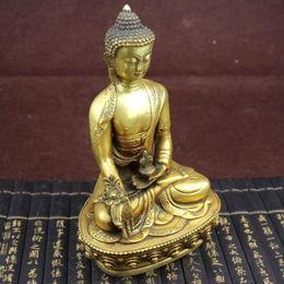 Statua tibetana online-Grande statua tibetana del Buddha della medicina dell'ottone del Tibet