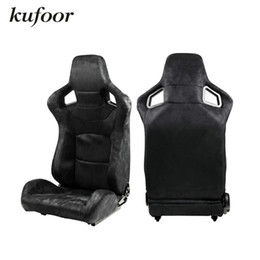 Wholesale RECARO Suede Adjustable Racing Sports Seats Auto Racing Seats Car Racing Chairs Black Red Blue