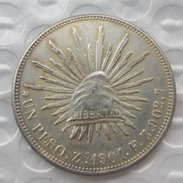 Wholesale Mexico Gifts - MO 1Uncirculated 1901 Mexico 1 Peso Silver Foreign Coin High Quality Brass Craft Ornaments