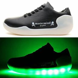 Wholesale Smart Shoes Mans - Mastermind JAPAN Orphe LED orpf Shoes,Casual Shoes,Beautiful Dance Shoes,Smart Footwear,LED Sole designed ,Skeleton Shoes With Box