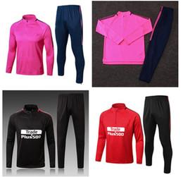 Wholesale Soccer Jersey Pink - 2017 2018 Tracksuit Pink GRIEZMANN F TORRES KOKE Tracksuit 17  18 jacket Training suit kits Jerseys Red Black Ropa de fútbol tracksuit kits