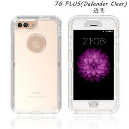 handy-abdeckungen für s4 Rabatt 3 in 1 klarer Defender-Koffer Ganzkörper Tough Transparente Robotergehäuse für iPhone X Xr Xs Max 8 7 6 Plus Samsung S7-Kante S8 S9 Plus Hinweis 9 8