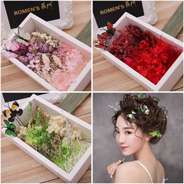 Wholesale Ponytail Holder Hair Extensions - Woman headdress hair Lomen bride headdress flower's flower flower butterfly immortal Korean wedding jewelry set 6210609