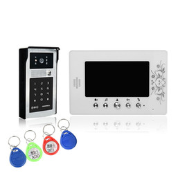 """Wholesale Digital Video Doorbell - XSL-V70A-IDS villa wired video doorbell 7"""" LCD color screens with alloy button and infrared camera with digital panel"""