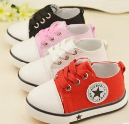 Wholesale Wholesale Plimsolls Shoes - 2017 New Style wholsale Kids Baby Sports Shoes Boy Girl First Walkers Non-Slip Sneakers Baby Infant Soft Bottom plimsolls