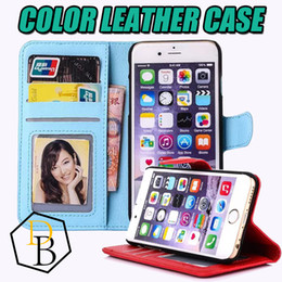 Wholesale Sumsung Galaxy Cases - For Iphone 7 PU leather wallet case for Iphone 5s 6 6plus phonecase Cover Pouch for Sumsung galaxy s6 edge s5 note4 note3
