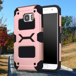Wholesale Hybrid Case Iphone4 - For Galaxy S7 Edge S7Edge Hockey robot Mate Slim Armor Hard Hybrid Defender TPU Silicone Case Cover For Iphone4 5 6 6Plus Iphone7 7Plus