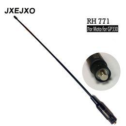 Venda por atacado- Longo alcance Dual Band antena RH-771 para antena para motorola para GP330 GP340 GP360 GP380 GP640 GP680 HT750 rádio HT1250 S017 supplier wholesale long range antennas de Fornecedores de antenas de longo alcance por atacado