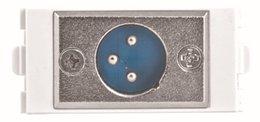 2019 mikrofonanschluss Großhandels-Mic Mikrofon 3 Pin XLR Stecker Modular, XLR Wand Faceplate, Mikrofon module226, Combo Wandplatte, weiße Frontplatte Steckdose günstig mikrofonanschluss